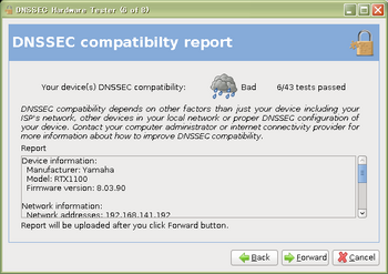 DNSSEC compatibilty report(RTX1100 Rev.8.03.90)